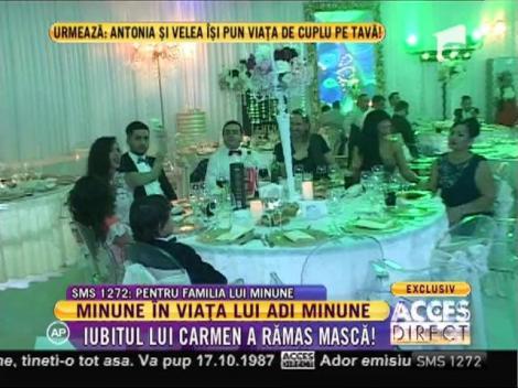 Adrian Minune a venit la nuntă lui Connect-R împreună cu iubitul fiicei sale!