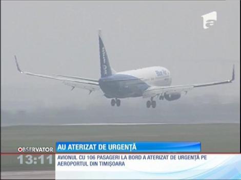 Un Boeing 737 a aterizat de urgenţă la Timişoara
