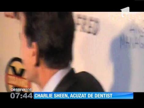 Charlie Sheen şi-a atacat dentistul cu un cuţit