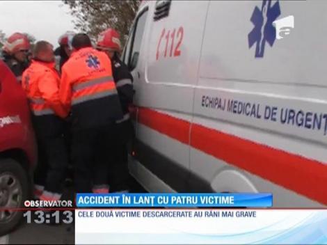 Accident în lanţ cu patru victime