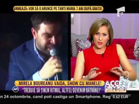 Mirela Boureanu Vaida, show cu manele