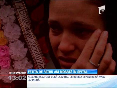 Fetiţă de patru ani, moartă în spital