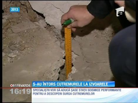 S-au întors cutremurele în localitatea Izvoarele