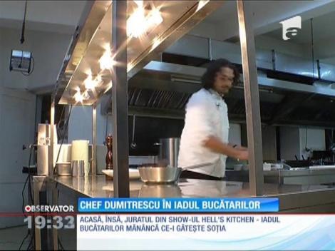 Chef Florin Dumitrescu mănâncă ce îi găteşte soţia