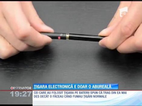 Ţigara electronică nu te ajută să renunţi la cea normală
