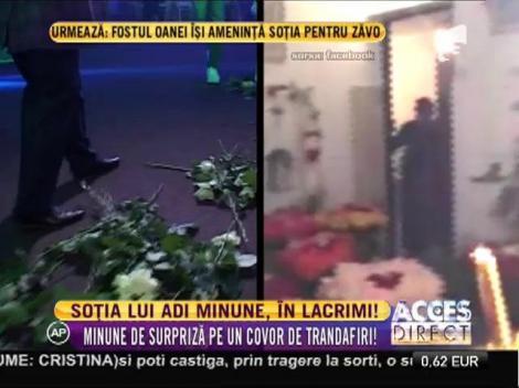 Soţia lui Adrian Minune, în lacrimi!