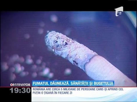 Fumatul dăunează grav bugetului statului