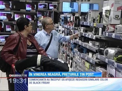 În Vinerea Neagră, prețurile țin post