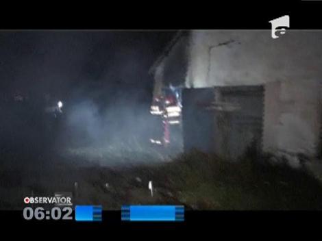 Incendiu la un grajd în Baia Mare