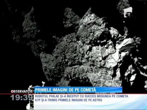 Imagini de pe cometă