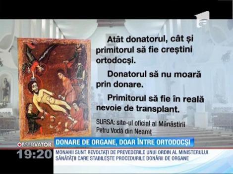 Donare de organe, doar între ortodocși