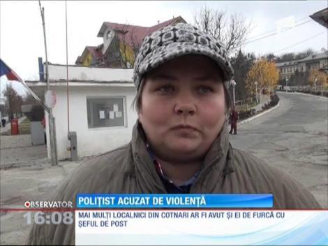 Polițist acuzat de violență