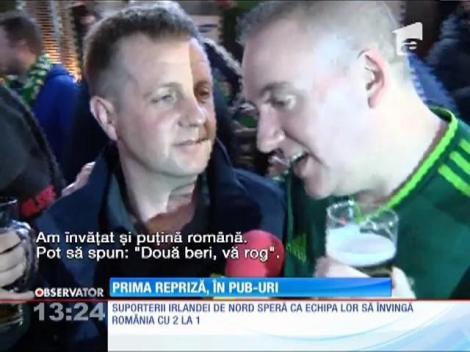 Prima repriză dintre România şi Irlanda de Nord s-a jucat în pub-uri