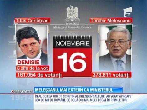 Teodor Meleșcanu a demisionat azi de la conducerea Ministerului de Externe