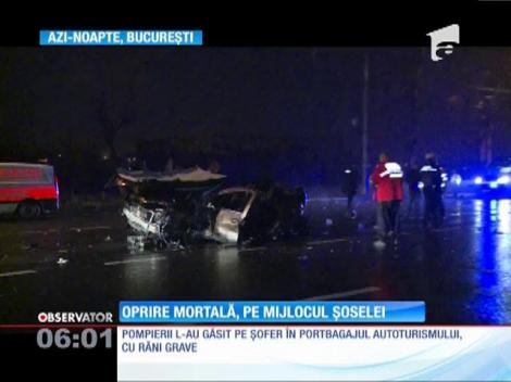 Accident rutier mortal, în București! Două maşini conduse în aceeaşi direcţie s-au acroşat în mers