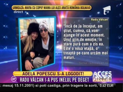 Adela Popescu s-a logodit!