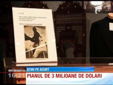 Pianul din filmul Casablanca s-a vândut la licitaţie