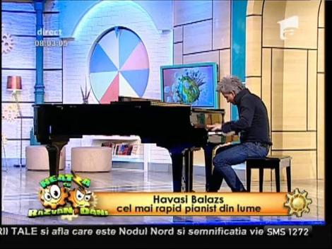 Marele HAVASI a pictat la pian la NEATZA!