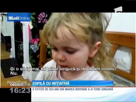 O fetiţă de doi ani din Marea Britanie a devenit vedetă pe internet