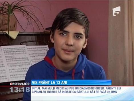 Ciprian, micul pianist din Alba Iulia, diagnosticat cu tumoare pe creier