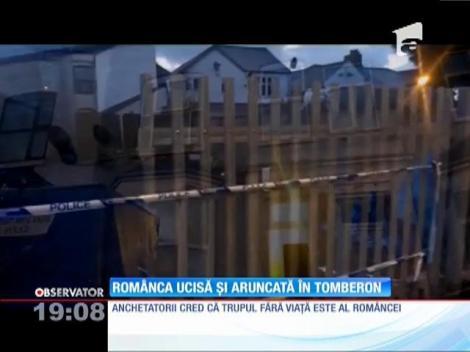 Românca dispărută în Marea Britanie a fost găsită moartă într-un tomberon