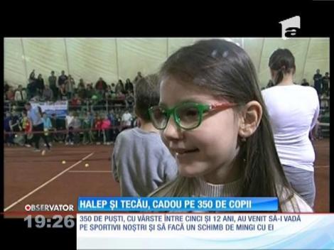 Simona Halep şi Horia Tecău au fost Moş Nicolae pentru sute de copii din Constanţa