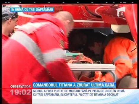 Update / Ceremonie în memoria lui Corneliu-Gabriel Titiana, pilotul elicopterului militar prăbuşit la Sibiu