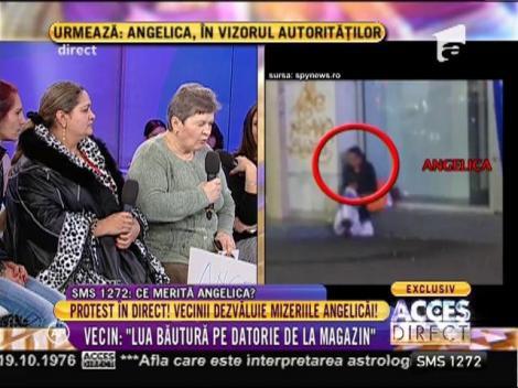 Protest în direct! Vecinii dezvăluie mizeriile Angelicăi