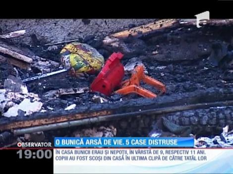 Update / O bătrână moartă și 5 case arse