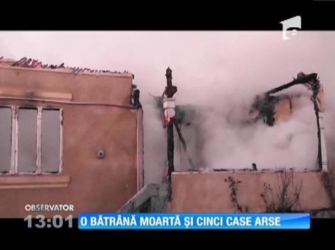 O bătrână moartă și 5 case arse