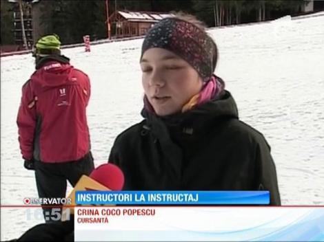 Pârtia de la Poiana Braşov a devenit sala de clasă pentru viitorii instructori