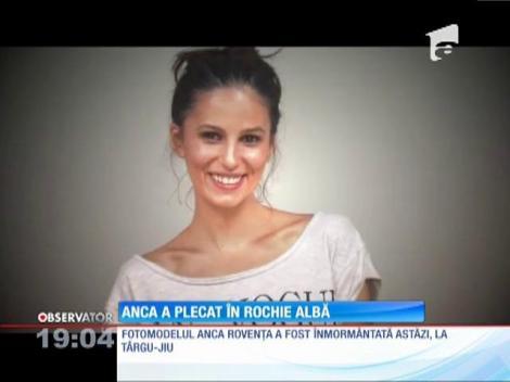 Anca Rovenţa, manechina de 26 de ani găsită moartă, condusă pe ultimul drum