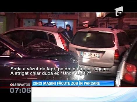 5 mașini făcute zob în parcare