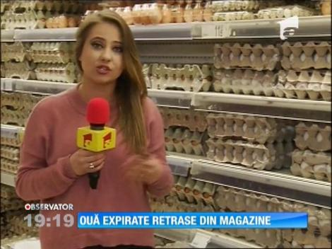 Ouă expirate retrase din magazin