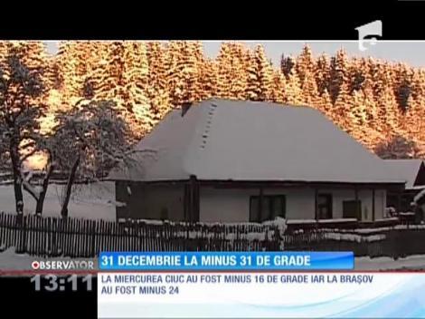 31 decembrie la minus 31 de grade
