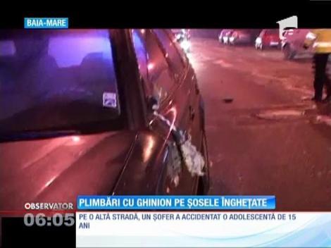 Noapte periculoasă pe şoselele din Baia Mare
