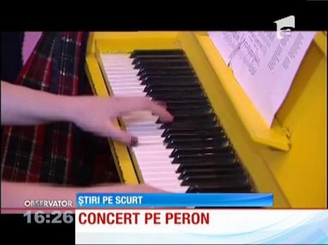 Muzică clasică pe peron