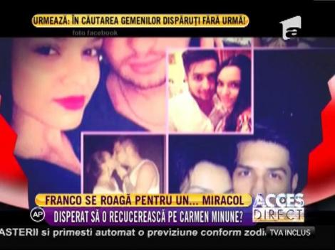 După Carmen Minune, jale mare! Franco plânge de dorul fiicei lui Adrian