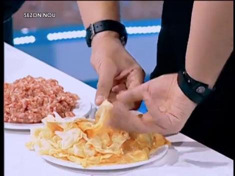 Provocare pentru Chef Florin: Să facă sarmale cu mâinile la spate