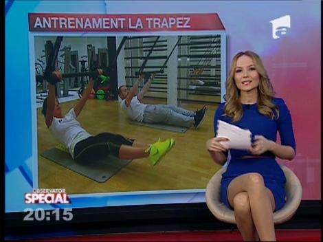 Special! Antrenamentul la trapezul de la circ aduce sănătate
