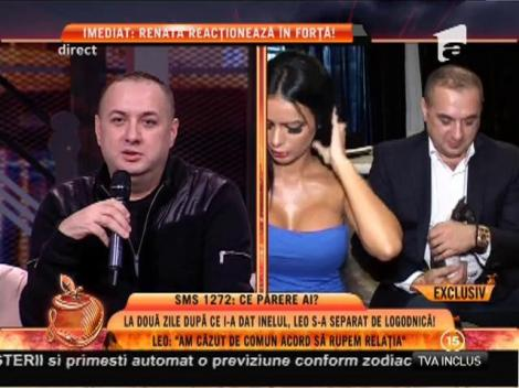 Leo s-a separat de Renata, la două zile după ce i-a dat inelul!