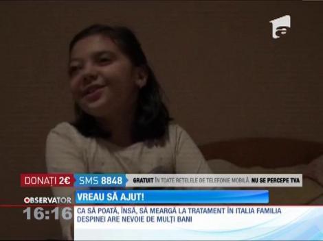 Vreau să ajut! Are 8 ani si a fost diagnosticata cu tumoare la ochiul drept