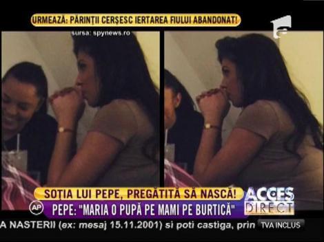Soţia lui Pepe nu îşi mai ascunde burtica