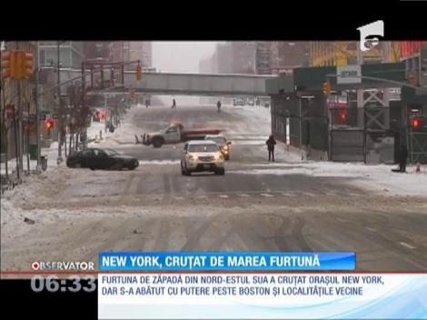 Puternica furtună de zăpadă a ocolit New York-ul