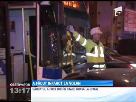 Un bărbat din Ploieşti a făcut infarct la volan
