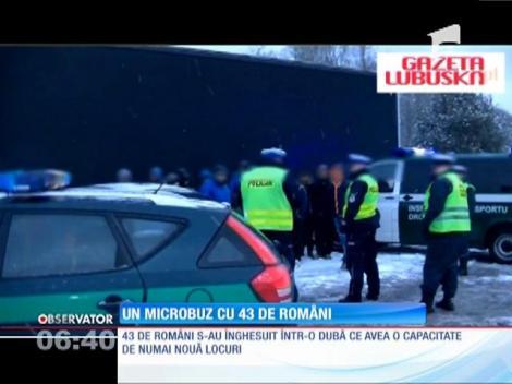 43 de români s-au înghesuit într-o dubă cu nouă locuri