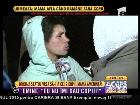 Emine, femeia care şi-a abandonat copilul în spital, circ fără margini în fața autorităților!