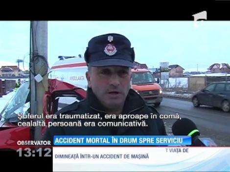 Accident mortal în drum spre serviciu
