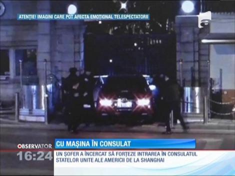 Un şofer a încercat să intre în curtea consulatului american din Shanghai