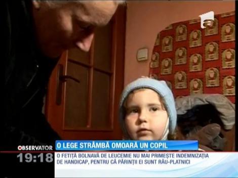 Legile strâmbe se răsfrâg asupra unui copil bolnav